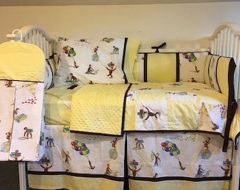 Vintage Classic Curious George Boutique Crib Nursery Toddler Bedding Set