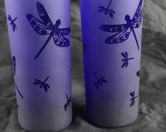 NEW ITEM Blue Dragonfly tall tumbler