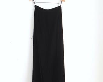 Velvet Floor Length Skirt