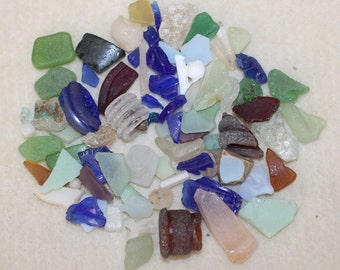 AWESOME CRAFT BEACHGLASS Beautiful large bunch of smaller size craft glass zy 007