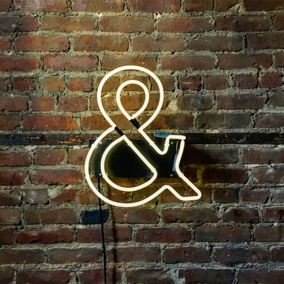 Mounted Neon Ampersand - Ready-made Neon