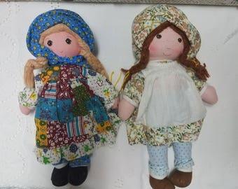Holly Hobbie rag dolls