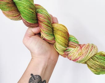 Faded Hydrangeas - Hand dyed 4ply/sock yarn 100g/400m superwash merino, nylon blend