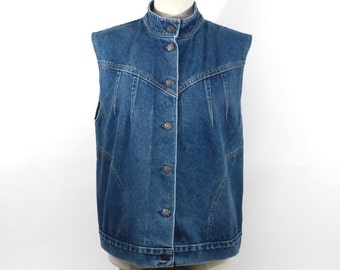 Levis Jean vest Vintage 1980s Blue Denim  Women's size M Medium