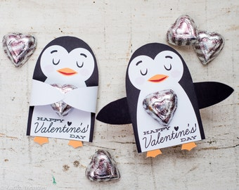 Polar Bear Classroom Candy Holder valentines cute animal hug