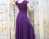 CUSTOM LISTING - Ruffled Calypso Cap Sleeve Maxi Dress - Organic Fabric - Made to Order - Choose Your Color