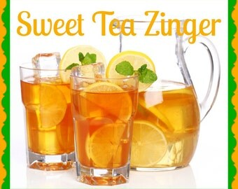 SWEET TEA ZiNGER Scented Soy Wax Melts Tarts - Refreshing Southern Country Drink - Relaxing - Air Freshener - Highly Scented - Handmade USA