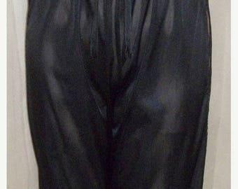 ON SALE Vintage Strapless Black One Piece Pajama Romper Jumpsuit Pants Medium Fantasy Lingerie