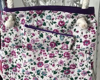 Vintage Fabric Shoulder Bag