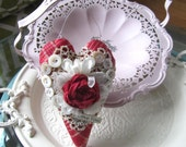 Red Heart Decoration - Heart-shaped Decor - Red Fabric Heart