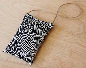 Car Air Freshener Lavender Sachet, Car Accessories for Women, Black and White Zebra Print