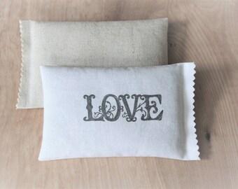 Natural Linen & Cotton Sachets, Lavender Scented Sachets, Anti Moth Lavender Pillows, Hygge Decor