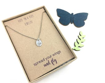 Butterfly Necklace - Sterling Silver Butterfly Necklace - Butterfly Pendant - Spread Your Wings - Graduation Gift - Graduation Necklace
