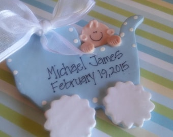 First Christmas Baby Personalized Ornament, New Birth, Birth Ornament, New Baby
