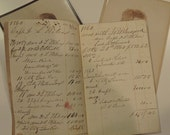 1860 - Vintage Leather Bound Account Book From 1860 to 1862 - Civil War Era Ledger Book