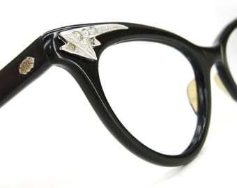 Vintage 50s Decorative Cat eye Glasses Frame