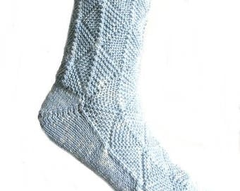 Fairytale socks Light Blue, size EU 42 - 43/UK 10/US 12