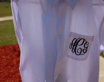 Monogram Wedding Day Button Downs