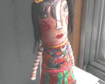 Original art Greta doll hand made , hand painted    OOAK by miliaart studio