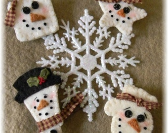 Snow Pins/Ornies Christmas /Winter MAILED PAPER PATTERN
