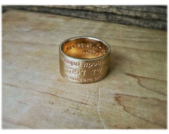 Wide Gold Men's Wedding Band 12mm Brushed Man's Gold Wedding Ring Made to Order 14K Solid Gold Ring Gold Jewelry Statement Engraved Stamped