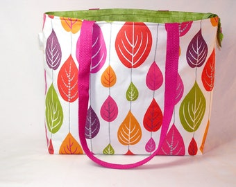 PREORDER Scandileaves Zippered Tory Tote Premium Fabric