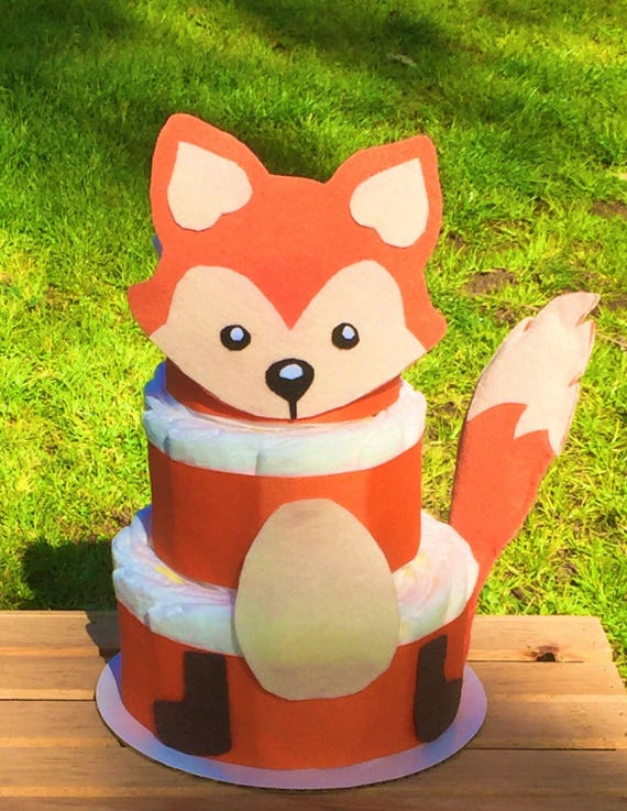 woodland baby shower decorations woodland diaper cake forest fox