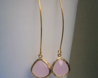 Clearance Sale, Pink Earrings, Gold Earrings, Wife, Best Friend, Mom, Sister, Bridesmaid, Girlfriend, Mother, Daughter