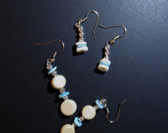 Set of Puka Bead Earrings French Wire
