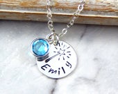 Fairy Wand Necklace,Girls Custom Name Necklace,Birthstone Necklace,Daughter Gift,Daughters Necklace