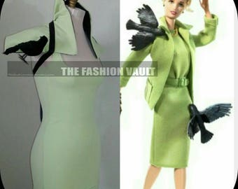Complete Set The birds Cosplay Collar shrug and bodycon bandage dress
