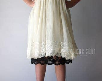 Girls Full Slip Lace Dress Extender, Size 6yrs-12 years