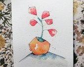 plant life. no.7  - an original watercolor illustration