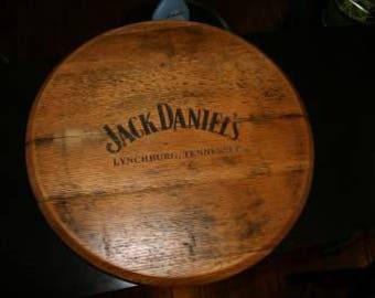 Jack Daniel's barrel head Lazy Susan