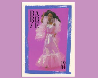 """Barbie Collectible Trading Card - """"Black Crystal Barbie"""" -Card No. 152 for Barbie collectors, dioramas, Black Barbie history"""