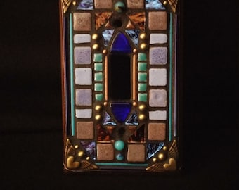Winged Heart Switchplate- Blue