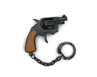 Vintage Toy Cap Gun Keychain from 1970s