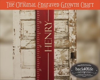 """SALE!! The Stanford - Engraved Wood Ruler Growth Height Chart - 48"""" (GC-48S)"""