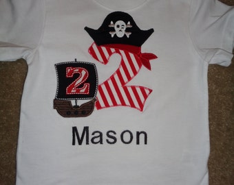Pirate Themed Birthday Shirt