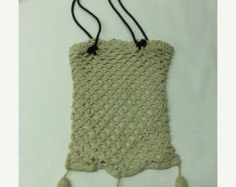SALE- 1940s Hand Crocheted Ladies Purse