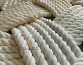 1/2 inch - 25ft or 20ft -  Navy Blue Rope - Cream Rope - Cotton Rope - DIY Wedding Decor - DIY Nautical Decor - Cream Rope