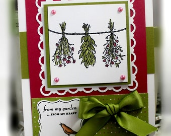 Stampin' Up From the Garden Card