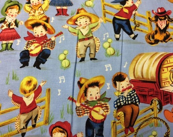 Cowboys and Cowgirls Print 100% Cotton Fabric