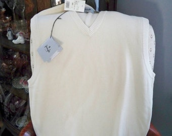 Vintage Clothing Men's Vest Pringle Vest Size L Vest NOS Vest Cotton Vest