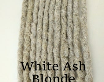 10 White Ash Blonde Synthetic dreads, dreadlocks, dreads, synthetic dreadlocks, dreadlock extensions, dread, hair extensions, knotty dreads