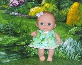 8LC1-112) 8 inch Lil Cutesies Berenguer baby doll clothes, 1 dress with panties
