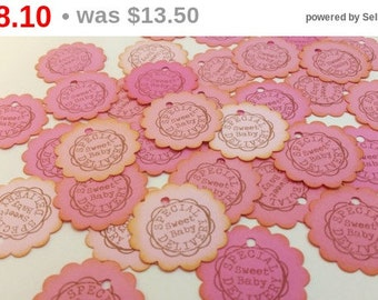 SALE 50 Baby Girl Shower Favor Tags Baby Shower Nail Polish Pink Ombre