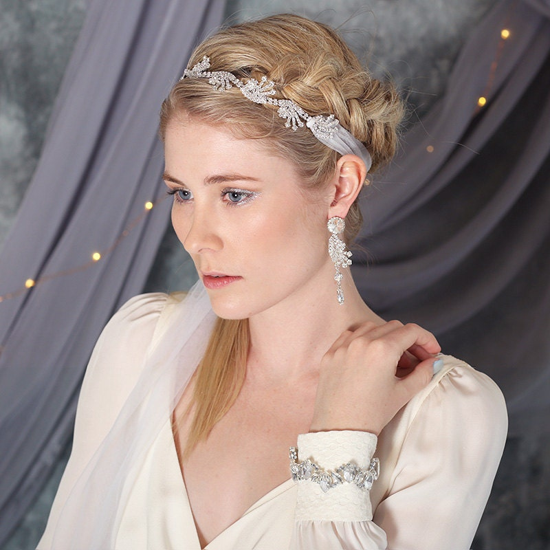 Aster Bohemian Bridal Headpiece Headband Veil Modern Wedding
