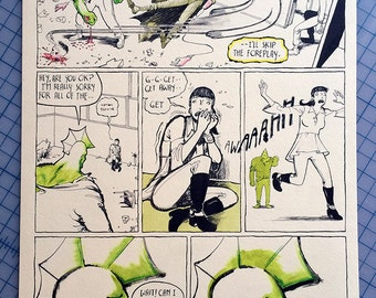 Savage Dragon Page 7, Original Comic Book Art by Michel Fiffe