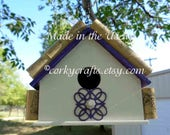 Wine cork bird house, grape retreat for your feathered friends, ready to ship, on sale